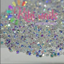 Crystal pixie bianchi boreali bassa qualità 0.8 mm kikinails