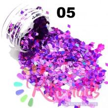 Rombi olografici, vari colori, 1 gr