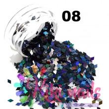 Decorazione rombi olografici holo 1 mm kikinails