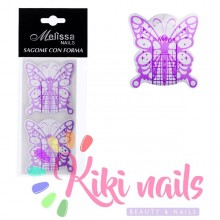 Cartine nail form RICOSTRUZIONE UNGHIE Butterfly violet 20 pz