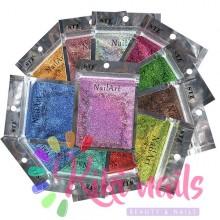 Glitter / polvere olografici 0.1mm, vari colori, 2 gr