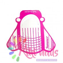 CARTINE RICOSTRUZIONE Nails forms farfalla summer pink 100 pz