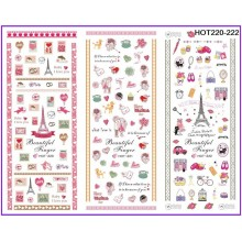 Water decal tema AMORE/CUORI