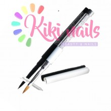 Pennello acrilico, punta kolinsky, 8 mm, modello swarosky bianco