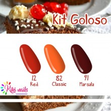 Kit Goloso: gel color R12, CL82, M91 Silcare