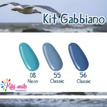 Kit gabbiano: gel color Silcare N8, 56, CL55