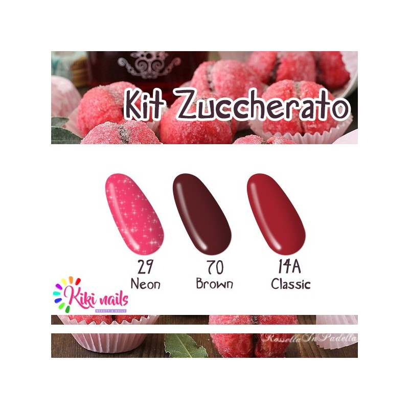 Kit zuccherato: gel color Silcare N29, B70, CL14A
