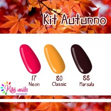 Kit autunno: gel color Silcare N17, CL80, M88
