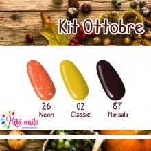 Kit ottobre: gel color Silcare N26, CL02, M87