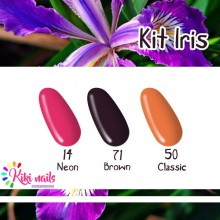 Kit Iris: gel color Silcare N14, B71, CL50