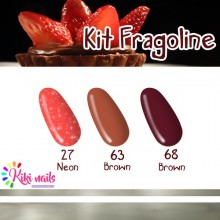 Kit fragoline: gel color Silcare N27, B63, B68