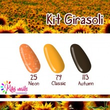 Kit girasoli: gel color Silcare N25, CL79, A113