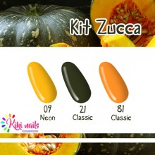 Kit zucca: gel color Silcare N09, CL21, CL81