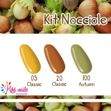Kit nocciole: gel color Silcare CL03, CL20, A100