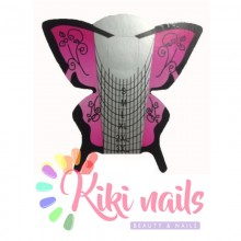 Cartine nail form farfalla viola Butterfly Pink 100 pz nails