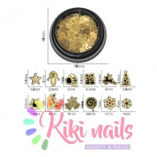 Decori natalizi oro, 150 pz, vari design