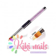 Pennello nail art, punta graffio, 12 mm, modello cat eye viola