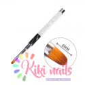 Pennello colore, punta tonda, 8 mm, modello cat eye bianco