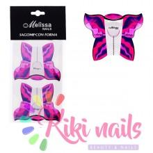 Cartine nail form Farfalla 20 pz, Melissa