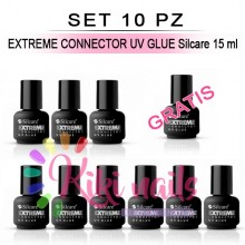 Set 10 Base Bonder Universale non acida, EXTREME CONNECTOR UV GLUE Silcare 15 ml