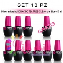 Set 10 Primer antifungino NON ACIDO TEA TREE OIL Base one Silcare 15 ml