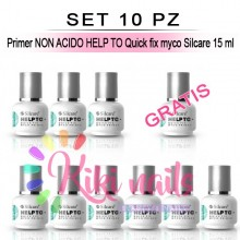 Set 10 Primer NON ACIDO HELP TO Quick fix myco Silcare 15 ml