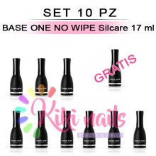 Set 10 Finish gel senza dispersione BASE ONE NO WIPE Silcare 17 ml