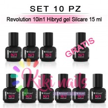 Set 10 Revolution 10in1 Hibryd gel Silcare 15 ml