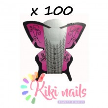 Cartine nail form Butterfly Pink 100 pz