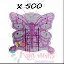 Cartine nail form RICOSTRUZIONE UNGHIE Butterfly silver pink farfalla argento 500 pz