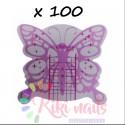 Cartine nail form RICOSTRUZIONE UNGHIE farfalla argento Butterfly violet