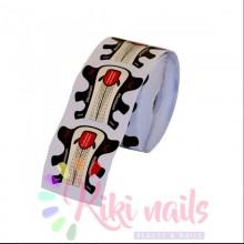 """Cartine nail form in alluminio RICOSTRUZIONE UNGHIE  """"Stiletto alluminium"""" 100 pz"""
