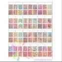 stencil nail art olografico Set sticker vari design, 10pz