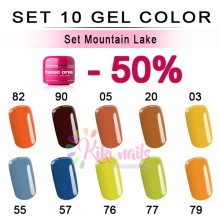 Set Mountain lake: 10 gel color Silcare