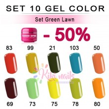 Set Green Lawn: 10 gel color Silcare