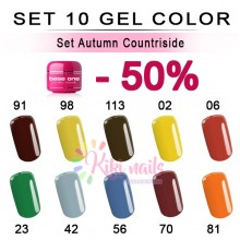 Set Autumn Countriside: 10 gel color Silcare