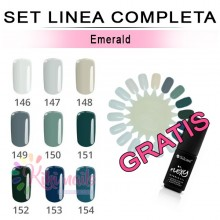 Set FLEXY linea completa EMERALD Silcare 4,5 gr