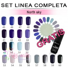 Set FLEXY linea completa NORTH SKY Silcare 4,5 gr