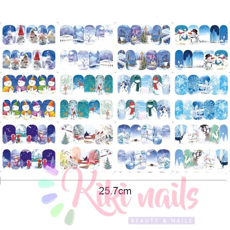 Set 12 Water decal stickers unghie NATALE: offerta economici