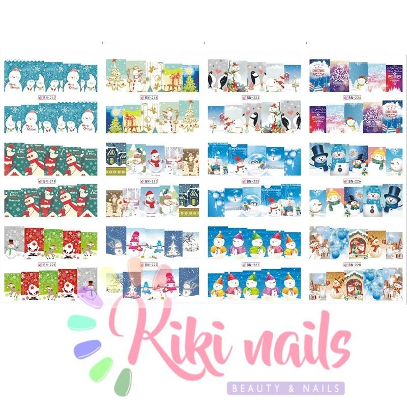 foglio 12 Water decal unghie NATALE economici offerta stickers nail
