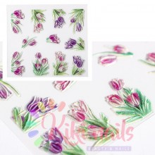 Stickers nail 5D tulipani, decorazione in rilievo