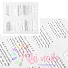 Stickers nail 5D maglione bianco, decorazione in rilievo