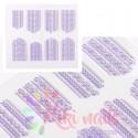 Stickers nail 5D foglie autunnali, decorazione in rilievo