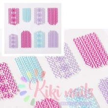 Stickers nail 5D maglione complesso, decorazione in rilievo