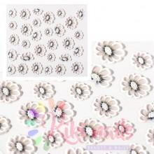 Stickers nail 5D fiori semplici, decorazione in rilievo