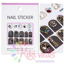 Stickers nail metallizzati JEWELRY 1