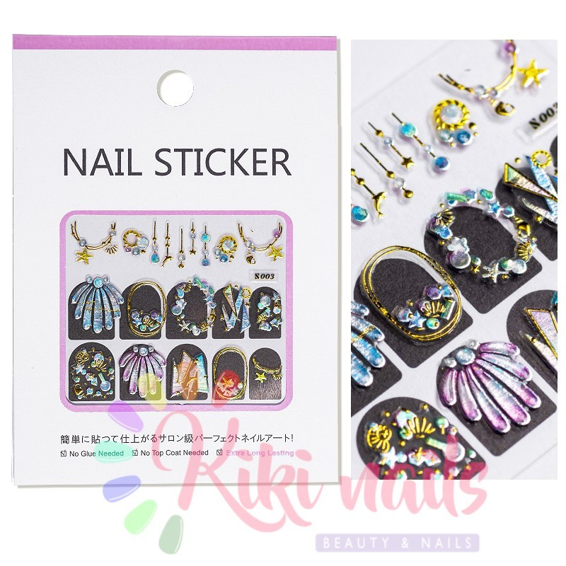 Stickers nail metallizzati JEWELRY 1
