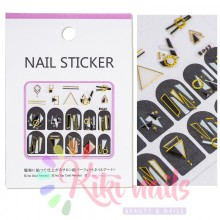 Stickers nail metallizzati JEWELRY GEOMETRIC