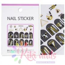 Stickers nail metallizzati JEWELRY 2