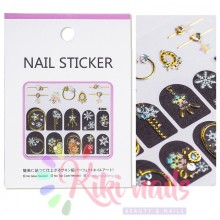 Stickers nail metallizzati JEWELRY CHRISTMAS